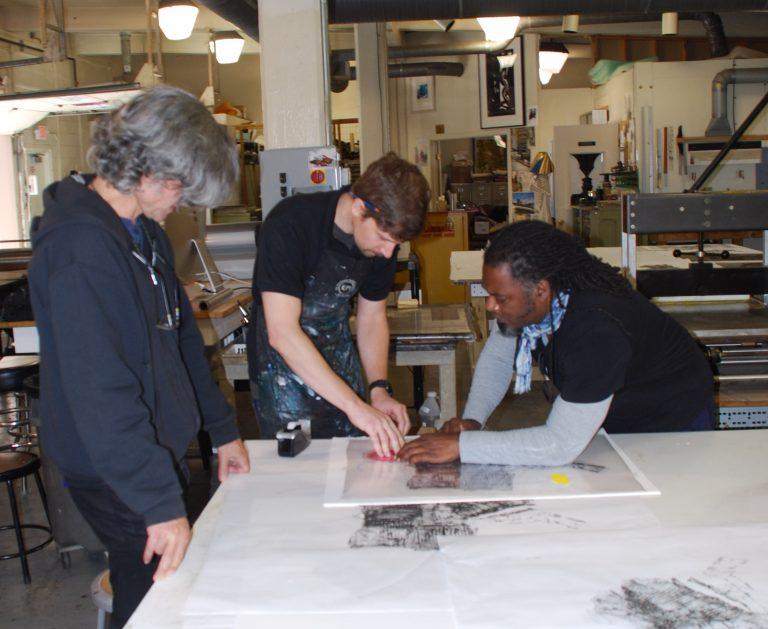 4 Cullen Washington Jr. at the Experimental Printmaking Institute